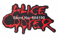 alice cooper - Alice Cooper Fashion Embroidered Iron On Sew On Patch Rock Band COSTUME PATCH EMBLEM