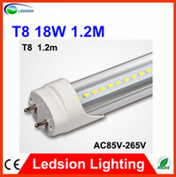 T8 18w 2835 FEDEX FREE SHIPPPING LED T8 Tube 18W 1850LM 96Led SMD 2835 Light Lamp Bulb 4 feet 1.2m 1200mm 90-277V led lighting fluorescent 2 year warran
