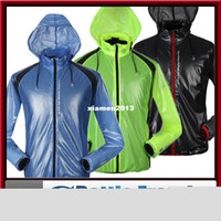 Wholesale 2014 mens thin compressed ventilate multifunction black blue yellow cycling jacket rain coat spring autumn windbreak waterproof