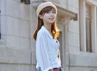 Wholesale Spring hat autumn beret painter hat beret budson cap wool lady hat factory supply cheap girl hat