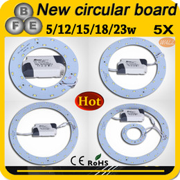 Wholesale 5W W W W W LED Ring PANEL Circle Light AC180 V SMD LED Round Ceiling board the circular lamp board