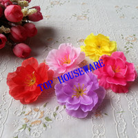 New Year   6C available 200pcs 4.5cm wholesale Artificial silk peach blossom plum blossom cherry blossom diy flower dance props clothes