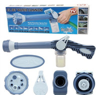 Car Washer plastic 43*15cm free shipping Ez jet water cannon blue high pressure water gun plastic spray gun multi Function spray gun with built soap Dispenser