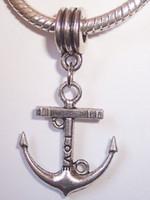 beach cruises - MIC Antique silver Love Anchor Cruise Nautical Beach Dangle Bead Fit European Charm Bracelet mm x mm z098