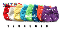 Wholesale 3 TPU waterproof reusable baby cloth diapers nappies One Size fits All inserts BC