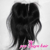Straight Lace Closure Human Hair Free shipping 3 way part lace top closure bleached knots,4x4 virgin malaysian hair lace front closure,swiss lace,can be dyed