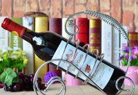 Wholesale European Retro Wine Racks Holder Metal Bottle Rack Iron Wine Coolers Holders Buckets Barware