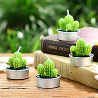 Wholesale High quality home decoration accessories style candle small mousse artificial flower cactus style