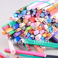 Wholesale 100PCS Nail Art Fruit Flower Animal Decoration Stick Tips