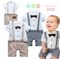 Wholesale 2014 New Boy Romper Gentleman Cotton One Piece Jumpsuit For Kids Boy M