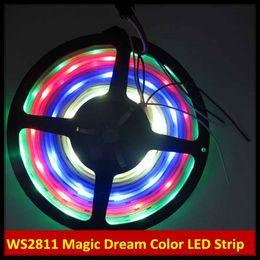 5M Magic Dream Color 133 Color Modes RGB LED Light Strip WS2811 IC 12V 5V IP67 Silicon Glue Tube Waterproof SMD 5050 150LEDs