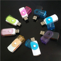 Wholesale good quality carousel multifunctional card reader can read and write M2 MS TF SD four card in one card reader