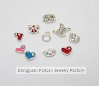 Wholesale Panpan glass locket charms mixed styles per style