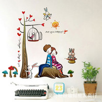 Wholesale Home Decoration Cartoon characters Living room bedroom TV background Wall Stickers Applique Wallpaper