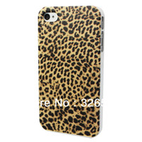 For Apple iPhone Plastic Yes Free Shipping + MOQ =1ps Brown Small Leopard Print Pringting Case Plastic Hard Back Skin For APPLE iPhone 4 4S Cover In the 2013