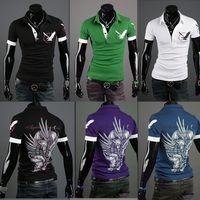 Men Cotton Polo 2014Free Shipping size M~XXL Good quality men 's polo shirt short sleeve t shirt for men Q0552