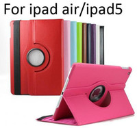 Wholesale case for ipad air degree Rotating PU Leather Cover Case for ipad ipad ipad air smart stand MOQ DHL EMS