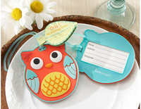 Wholesale new arriva cute Owl Be Seeing You Owl Luggage Tag Wedding Party Favors Baby Shower Gifts