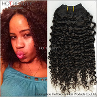 Wholesale 4pcs AAAAA Brazilian Virgin Kinky Curly Hair Afro Curly Human Hair Extensions Natural Black