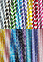 Wholesale 10000pcs Creative Paper Drinking Straws Polka Dot Chevron Stripe Star Paper Straws Chevron Patterns amp Party Decoration