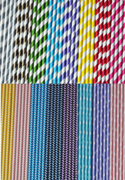 Wholesale 10000pcs Creative Paper Drinking Straws Polka Dot Chevron Stripe Star Paper Straws Chevron Patterns Party Decoration