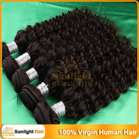 Wholesale 3Pcs Queen Hair Products Unprocessed Virgin Brazilian Hair Wavy Kinky Curly Virgin Hair quot quot Natural Black B Remy Human Hair Extensions