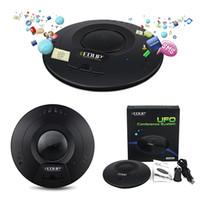 Wholesale 20PCS Black EDUP EP B3509 No Radiation M MIC Speaker Stereo Voice UFO Bluetooth A2DP Conference System Music Receiver D2301A