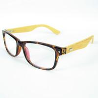 Wholesale 2016 Classics Wood Optical Glasses Japan Trendsetter Bamboo Legs Eyeglasses Frames Optical Eyewear Clear Lense Oculos colors WL6822
