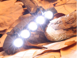 Wholesale 5 Bulbs Fish Cap Light Under the Brim Cap Hat Lighting Hunting LED Outdoor Headlamps