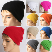 Wholesale New Beanie Unisex Plain Knitted Earflap Winter Warm Skullcaps Hats Snowflake Knit Beanie Colors Choose HZF