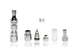 Wholesale New K3 wax atomizer glass tank clearomizer atomizer vaporizer Detachable rebuildable Coil For Ego t ego vv ego twist vision spin
