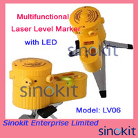 Wholesale New Multifunction Useful Laser Level Leveler Measuring Tool with Tripod LV06 with LED Lights and bubble