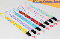 Wholesale Hot Sale New Anti pacifier Out With Baby Pacifier Clip Pacifier Chain Drop Resistant Belt Baby Pacifier Holder Clips pc Melee