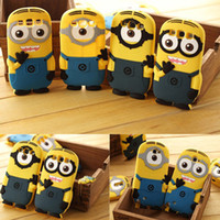 For Apple iPhone Silicone  Case Despicable Me Silicone Cute M2 for iphone 5 5S 4 4S Samsung Galaxy s4 i9500 s3 i9300 s5 note 2 n7100 note 3 n9000 IPad 2 3 4 mini