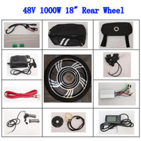 bike motor kit - Electric Bike Conversion Kit V W motor inch Rear Wheel Ebike Powerful LCD Speed Limit Brushless Gearless Motor Level PAS