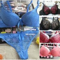 Wholesale bra set New Arrival Women s Fashion Sexy Push up Bra Underwear padded panties Bra amp Brief Sets SV000284 Z