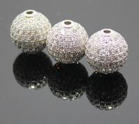 Wholesale mm DIY Jewelry Beads Micro inlay CZ Rose Gold Beads Colors Optional