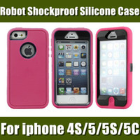 Wholesale Colorful Heavy Robot Duty Hybrid Rugged Matte Shockproof Silicone Case Soft Cover For iPhone5 iPhone C galaxy s5 S5 PHC