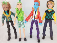 Wholesale 4 models mix cm monster high dolls monster high boy Clawd Wolf Deuce Gorgon Gillington Webber Jackson