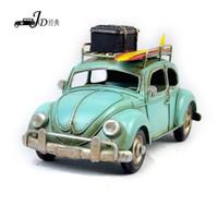 Metal   Vintage Metal Handmade Craft Sky Blue Station Wagon Car Mold Photography Props 1104A-4083