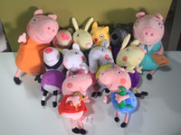 Wholesale New Peppa pig series Peppa Pig Family amp Peppa Pig s Friends styles CM CM Plush Doll Toy Stuffed