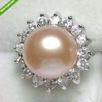 Celtic akoya pearl rings - Charming Pink AKoya Cultured Pearl Woman s Ring