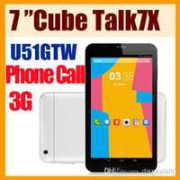 Wholesale 7 inch Dual Core G Phablet Phone call Android MTK8312 GHz Tablet PC Bluetooth GPS WiFi Auto focus Cube U51GTW