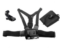 Wholesale GoPro Accessories Go pro Harness Adjustable Elastic Belt Body Chest Strap Mount J Hook Buckle Screw Bag for Gopro Hero3