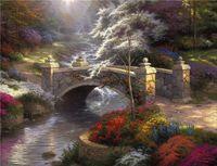Oil Painting art thomas - Hi Q Wall art Home decoration Thomas Kinkade landscape Hot sale HD print arts oil painting on canvas