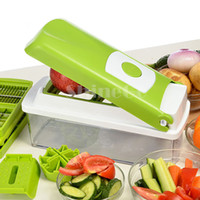 dicer chopper - New Hot Sales Nicer Dicer Plus Fruit Vegetable Tools Multi Functional Dicer Food Slicer Cutter Containers Chopper Peelers Salad Machine