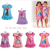 2014 children summer clothes girls girl Anna Elsa Frozen pri...