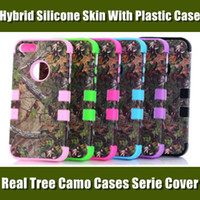Wholesale Real Tree Camo Cases Serie For iphone S S C Samsung Galaxy S4 S3 Waterproof Cell Phone Case Hybrid Silicone Skin With Plastic Shell