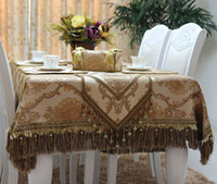 Wholesale 2014 luxury European style jacquard printed faux silk table runner cloth placemat tissue box cover cushion cover chair cover