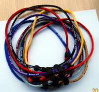 Wholesale Sports Titanium Germanium Tornado single rope necklace fashion jewelry mix colors OEM custom CM